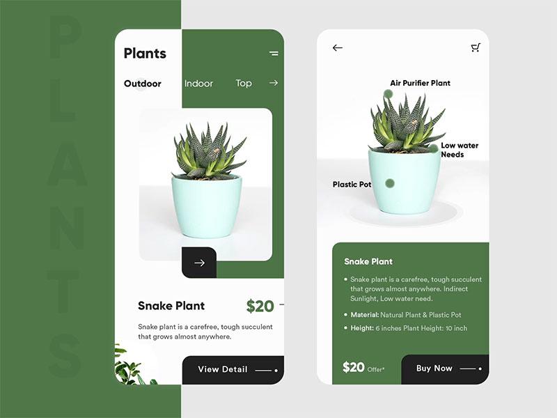 绿植app界面UI设计欣赏