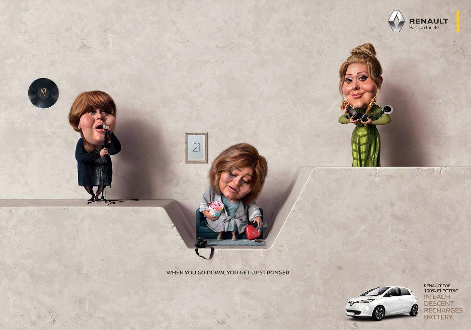 低谷正是充电的时候: 雷诺汽车广告欣赏