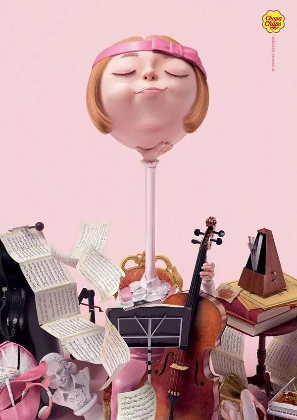 珍宝珠棒棒糖平面广告欣赏