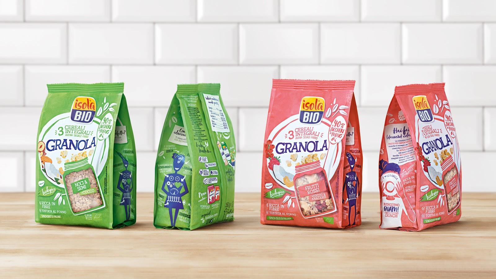 Isola Bio谷物饮料包装设计
