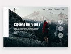 35个国外旅游网站UI设计