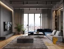 高級灰搭配工業風 打造簡約舒適loft空間
