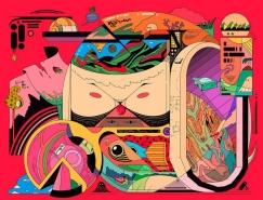 Ori Toor脑洞大开异化风格的插画创作