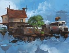 Alejandro Burdisio画笔下的幻想城市
