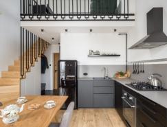 开放舒适空间:55平米复式夹层小公寓设计