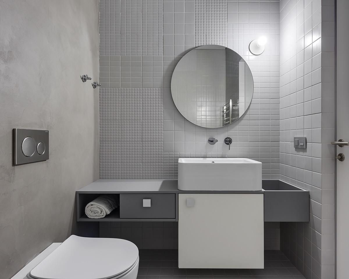 蓝和粉红的搭配:2套大胆而轻盈的室内装修设计