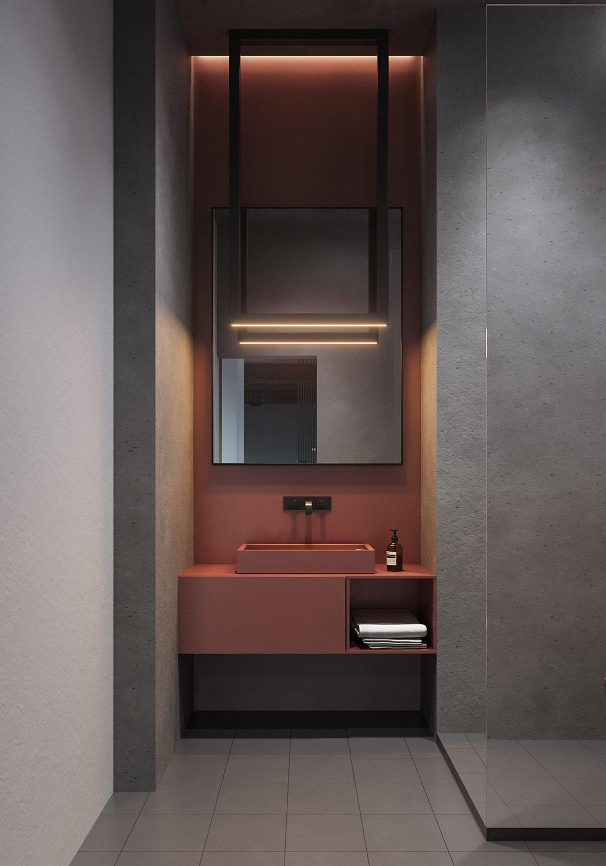 高级灰与绿植装饰 极简主义风格现代家居空间设计