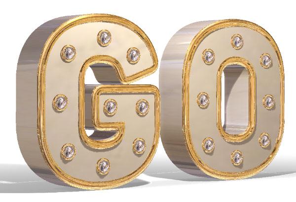 用PS中的3D功能制作金属材质的文字