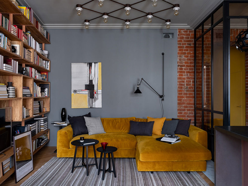 莫斯科135平新艺术运动风格公寓