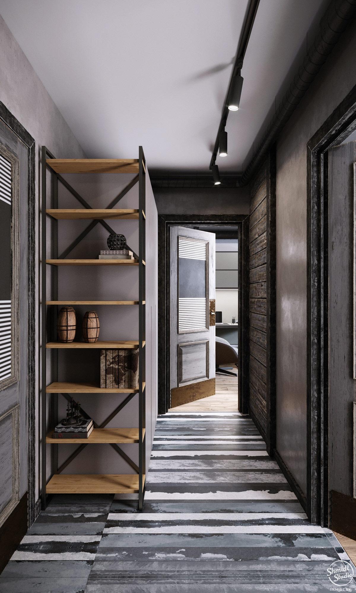 2个乡村工业风格住宅装修设计