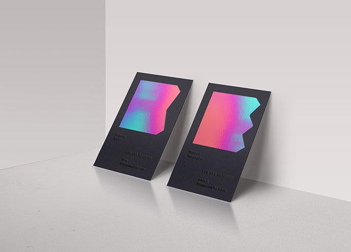 惊艳的彩虹色 25款使用全息效果的名片设计