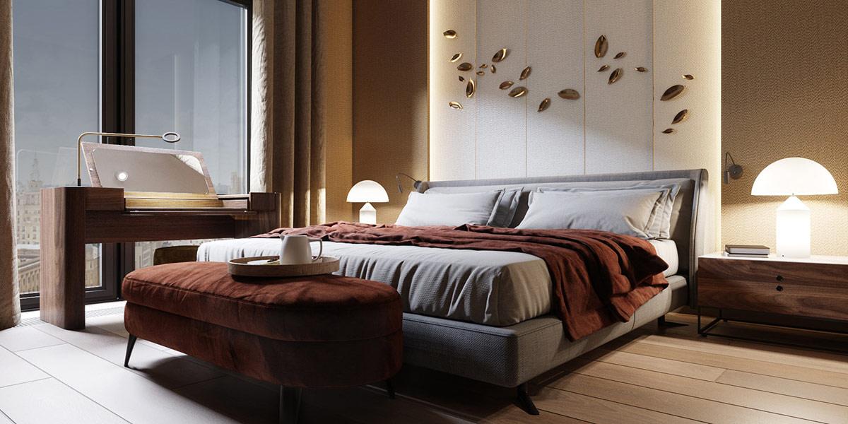 清新的家具 时尚的灯光 精致的布局:120平米现代时尚公寓