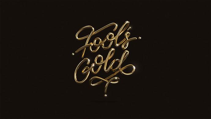 20款高贵的3D金色字体设计