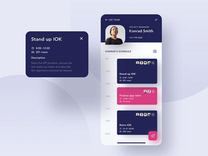 50款国外日程安排APP UI设计欣赏