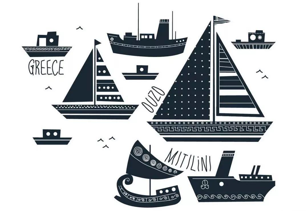 文化图腾插画:希腊风情饮料包装设计