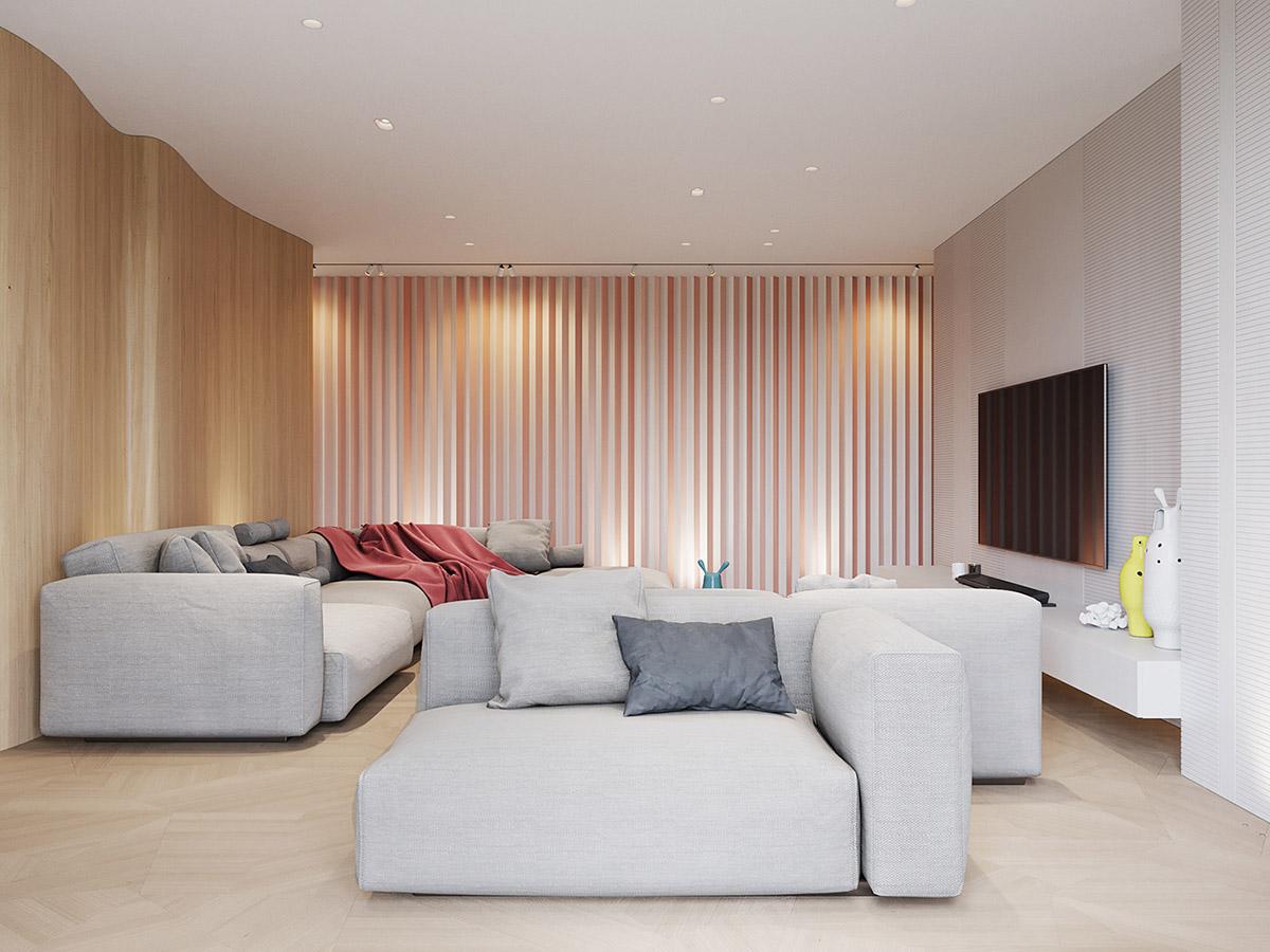 轻复古又现代感的175平米住宅设计
