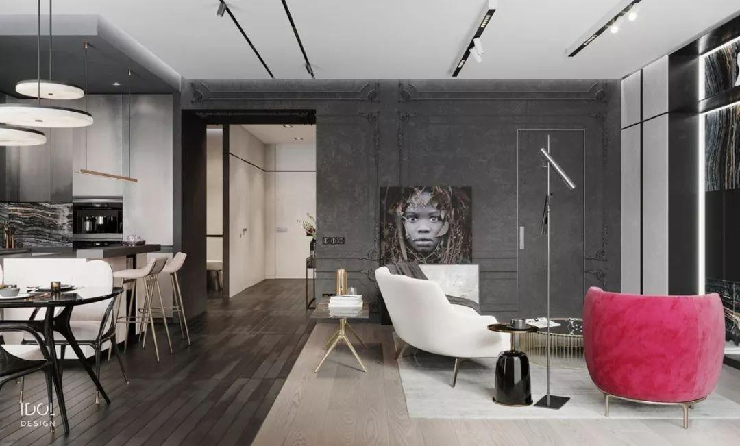 现代复古风格的122m²CROCUS公寓
