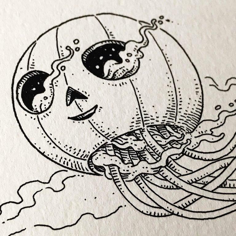 Pedro Correa在Moleskine笔记本上手绘的插图作品