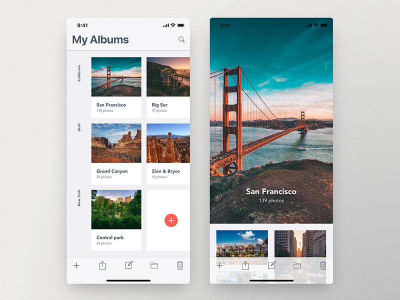 12款照相App UI界面欣赏