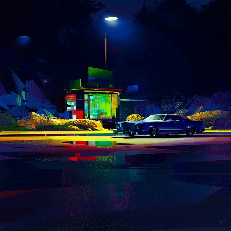 犀利的风格 利落的色块:Michał Sawtyruk场景插画作品