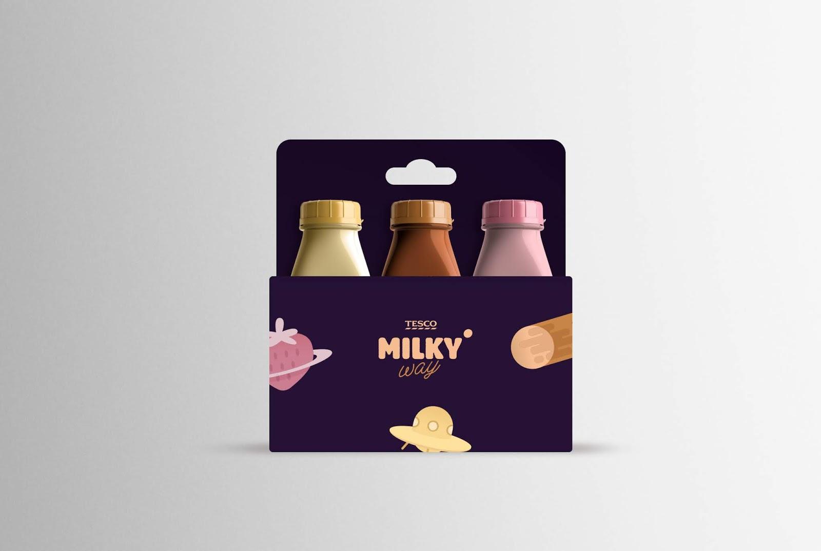 Milkyway奶昔品牌包装设计