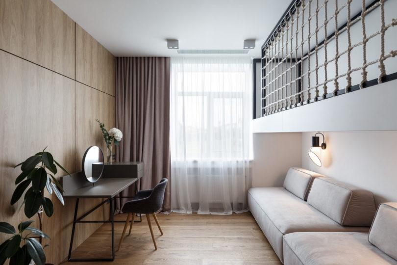 清新自然的开放式空间 两间公寓合并改造成大宅