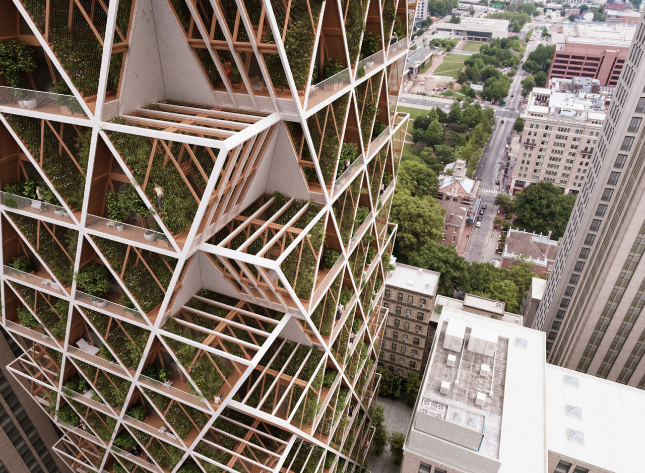 Precht identifies:几何形状生态建筑综合体