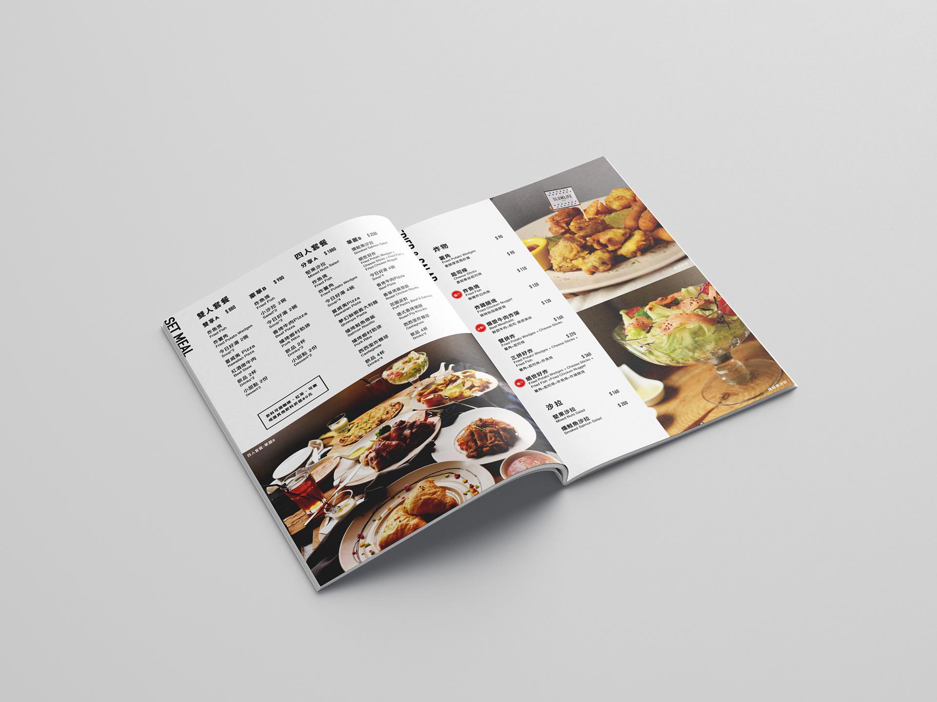 慢慢BISTRO餐厅菜单设计