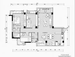 品味软装设计 135㎡现代优雅轻奢公寓