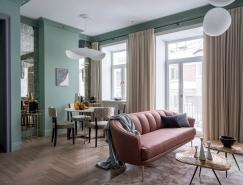 俄罗斯一套19世纪的浪漫复古公寓