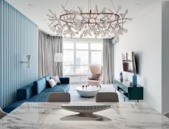 蓝和粉红的搭配:2套大胆而轻盈的室内装修设