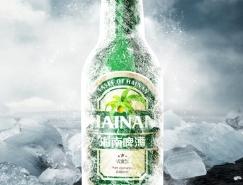 PS合成冰凍的啤酒海報