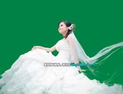 PS複雜背景下的透明婚紗摳圖教程