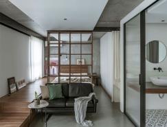全玻璃隔断的48平米开放式小公寓