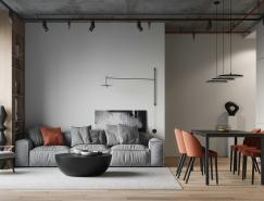 北欧风+工业风: 时尚简约混搭公寓设计