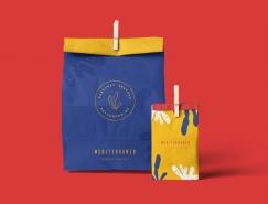 外卖餐厅Mediterráneo品牌和包装设计