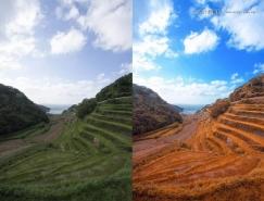 PS把春季山坡照片调成唯美秋季色彩