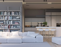 极简主义的纯白公寓空间
