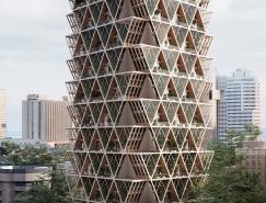 Precht identifies:幾何形狀生態建筑綜合體