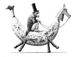 Redmer Hoekstra超现实风格黑白插画作品