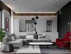 红与灰打造现代家居装饰设计