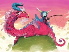 Guille Rancel想象力丰富的可爱动漫角色插画设计