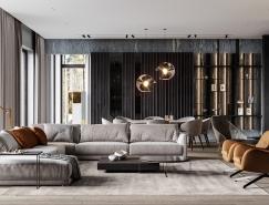 金色点缀 750平高级灰展示现代魅力豪宅