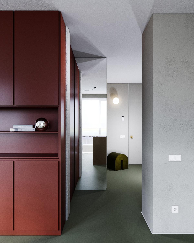 3个使用红色调风格的现代家【居装修