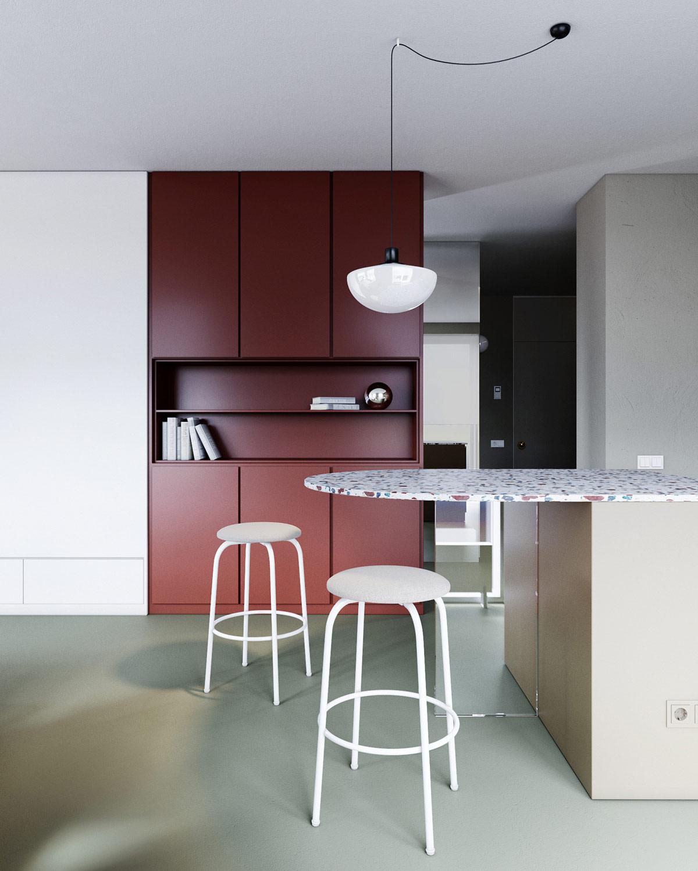 3个使用红色调风格的现代¤家居装修