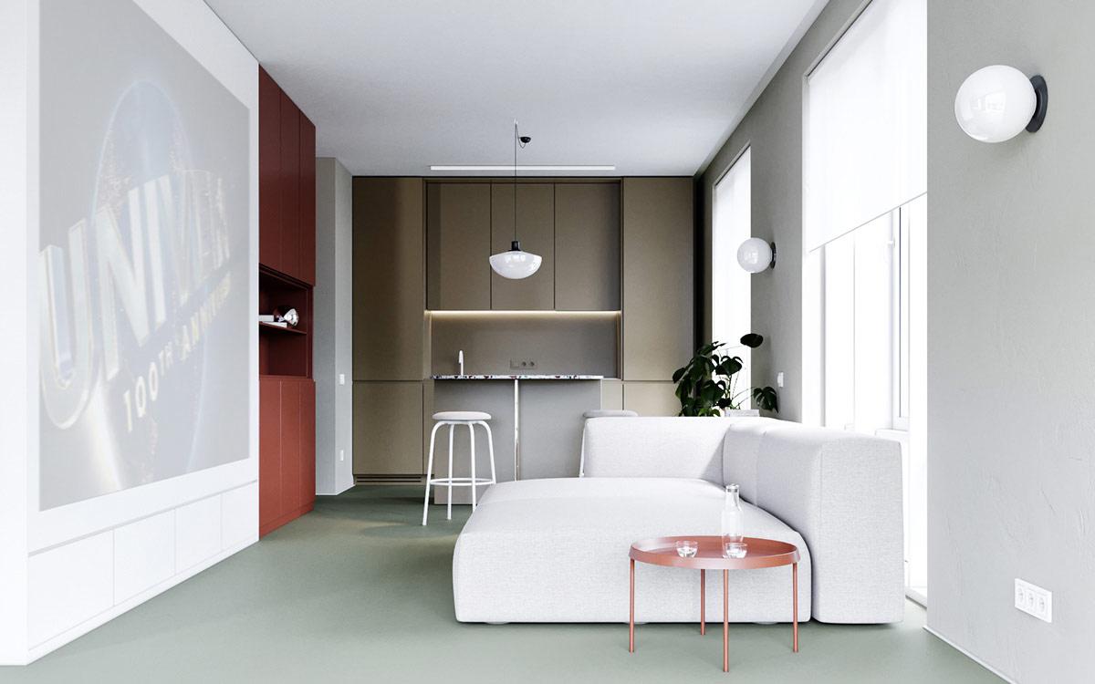 3个使用红色调√风格的现代家居装修