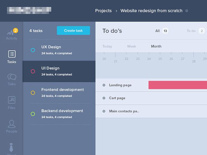 30款时间线UI界面设计