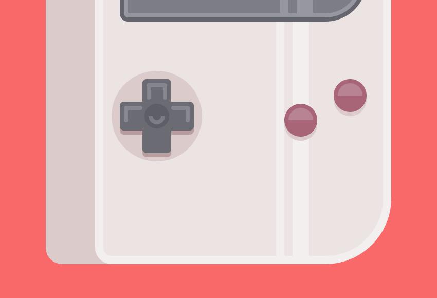 Illustrator绘制一个掌上游戏机