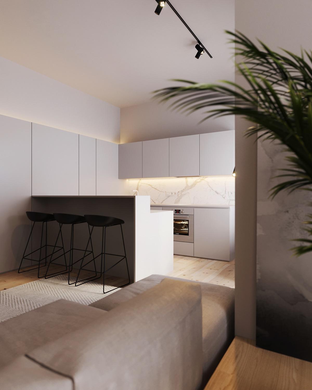 天然木材饰面的现代家居装修设计