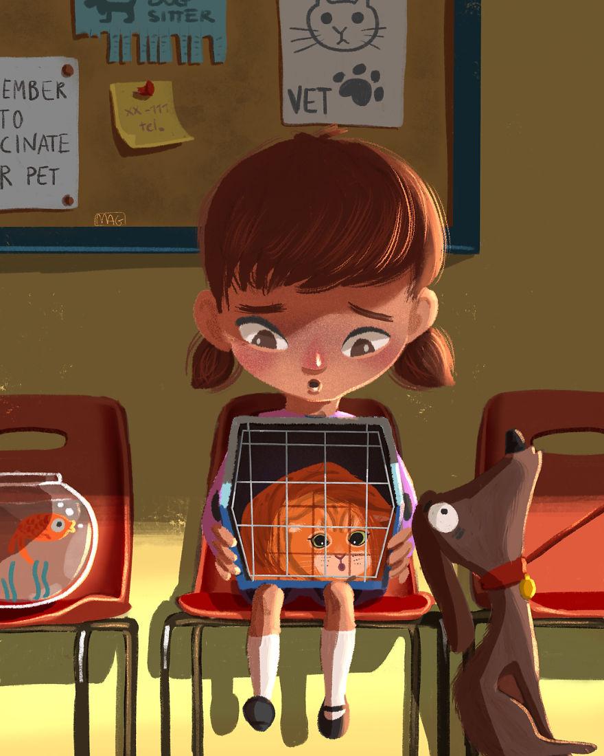 Margherita Grasso可爱猫咪插画欣赏